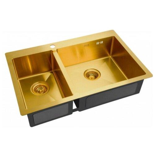 Фото - Врезная кухонная мойка 78 см ZorG SZR 78-2-51 R BRONZE бронза врезная кухонная мойка 78 см zorg szr 78 2 51 r bronze бронза