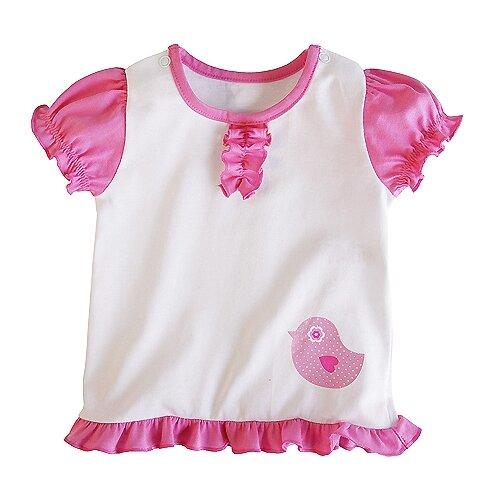 Купить Футболка Наша мама размер 74, белый/розовый, Футболки и рубашки