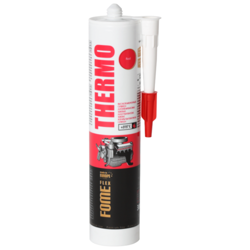Автомобильный герметик силиконовый высокотемпературный FOME FLEX Thermo 300 мл