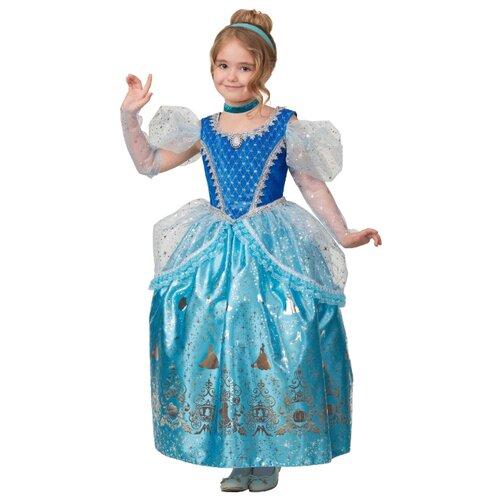 Купить Костюм Батик Принцесса Золушка (1930), голубой, размер 128, Карнавальные костюмы