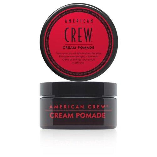 Купить American Crew Cream Pomade Крем-помада для укладки волос легкой фиксации с низким уровнем блеска 85 гр