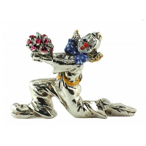 Фигурка Клоун на колене с цветами Argenti Piu 673 6 см