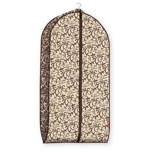 Valiant Чехол для одежды объемный, малый CLASSIC 100x60х10 см (CL-CV-100) коричневый/бежевый