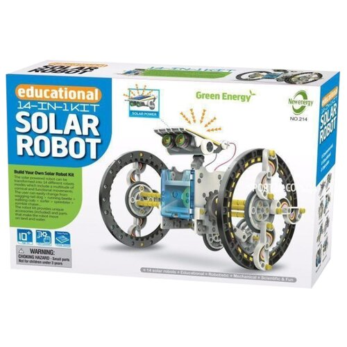 Электромеханический конструктор New Energy Educational 14 in 1 Kit Solar Robot