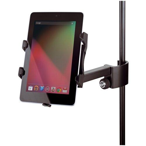 K&M 19740-000-55 Держатель для планшетов размером от 120х160 до 220х320 мм на микрофонную стойку