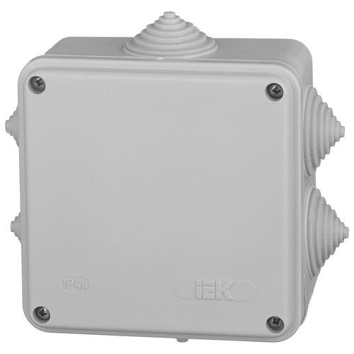 Распределительная коробка IEK KM41233 наружный монтаж 100x100 мм серый RAL 7035