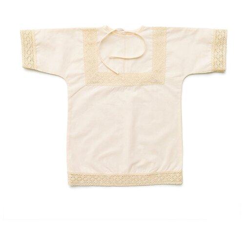 Рубашка ИвБэби размер 74, кремовый