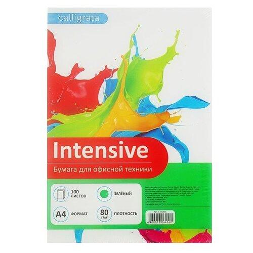 Бумага Calligrata A4 Intensive 80 г/м² 100 лист. зеленый 1 шт.