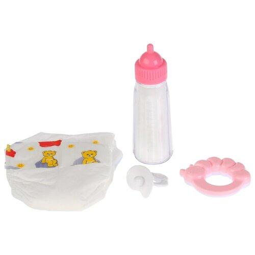 Набор для кормления Карапуз Набор для пупса 4 предмета B1716196-RU розовый simba набор для кормления пупса new born baby цвет голубой