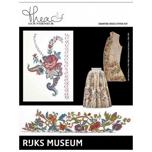 Купить Набор для вышивания Музей Rijks Юбка c. 1700-1800 / Жилет c. 1730-1739, канва лён 36 ct, Thea Gouverneur, Наборы для вышивания