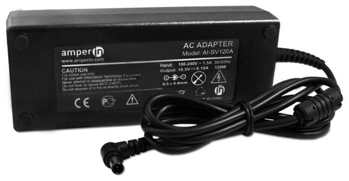 Блок питания (сетевой адаптер) Amperin AI-SV120A для ноутбуков Sony 19.5V 6.15A 6.5 x 4.4mm с иглой
