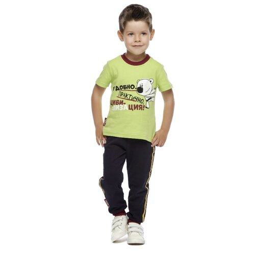 Футболка lucky child размер 28 (92-98), зеленый худи lucky child размер 28 92 98 фиолетовый