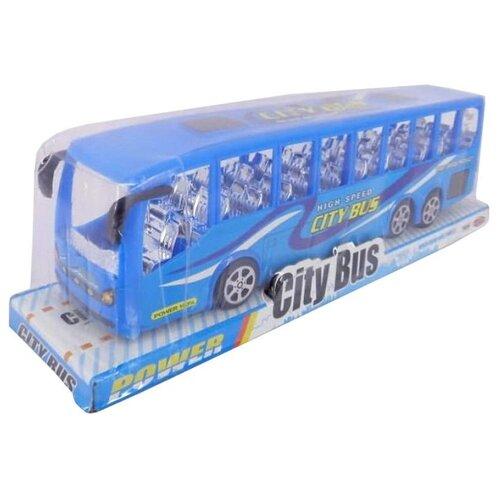 Фото - Автобус Junfa toys TQ123-36A синий plantoys сортер каталка plan toys автобус