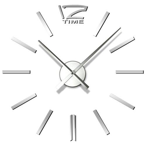 настенные часы apeyron electrics pl 01 023 черный Часы настенные, круглые, серебристые, APEYRON DIY1176