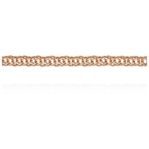 АДАМАС Цепь из золота плетения Ромб свободный двойной ЦРС330А2-А51, 50 см, 3.73 г