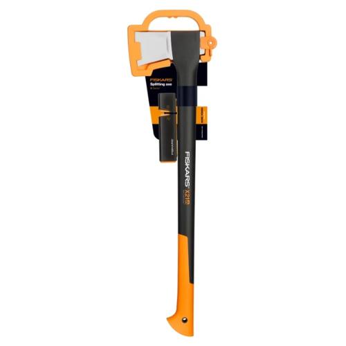 Фото - Колун FISKARS X21-L + точилка черный / оранжевый топор колун fiskars х17 1570гр фиберглассовая ручка точилка