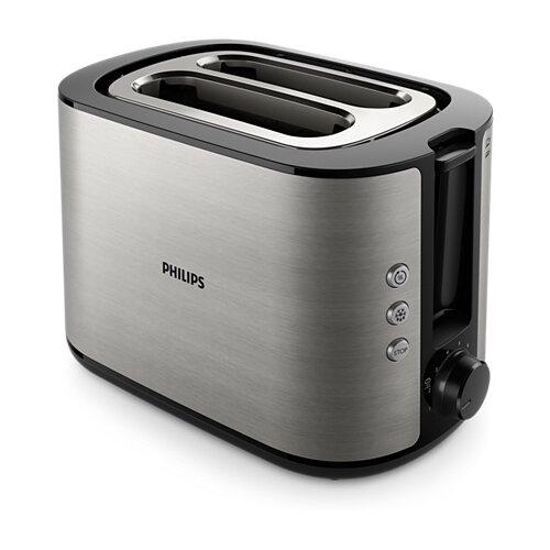 Тостер Philips HD2650/90 Viva Collection, нержавеющая сталь соковыжималка philips hr1837 00 500 вт нержавеющая сталь чёрный
