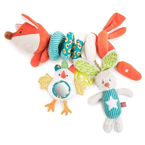 Подвесная игрушка Happy Baby Лисичка Люся (330664) оранжевый/белый/голубой happy baby сумка пляжная happy baby оранжевый