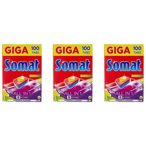 Фото - Somat All in 1 таблетки (лимон и лайм) для посудомоечной машины, 300 шт. в3 уп. somat all in 1 таблетки лимон и лайм для посудомоечной машины 390 шт в6 уп
