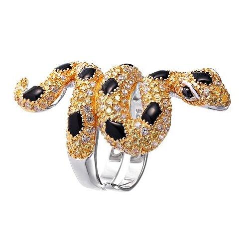 Фото - JV Серебряное кольцо с кубическим цирконием, ониксом PR150002B-OX-001-WG, размер 17 jv кольцо с ониксами и фианитами из серебра pr150002b ox 001 wg размер 17