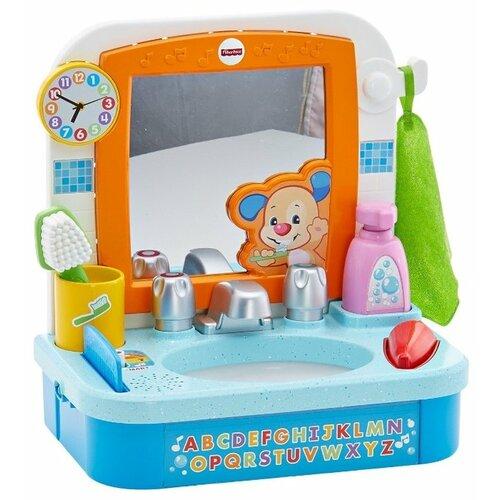 Купить Интерактивная развивающая игрушка Fisher-Price Смейся и учись. Умывальник Ученого Щенка (DRH28) голубой, Развивающие игрушки