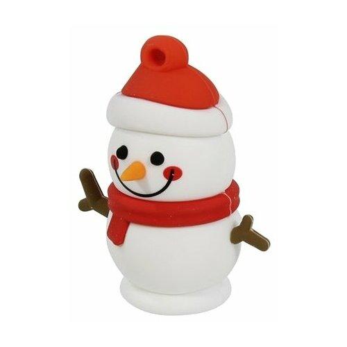 Фото - Флешка SmartBuy NY series Snow 16 GB, красный/белый флешка smartbuy ny series snow 16 gb красный белый