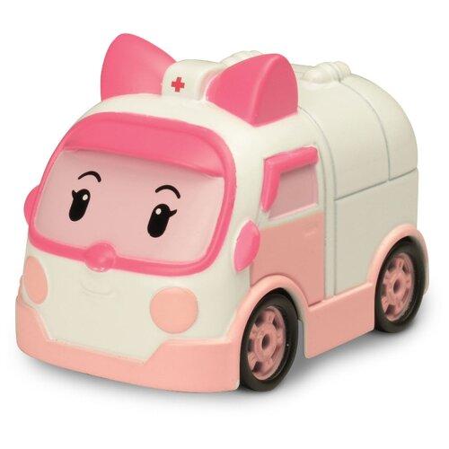 Купить Машинка Silverlit Робокар Поли Эмбер (83163) 6 см белый/розовый, Машинки и техника