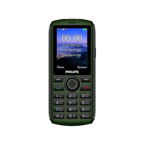 Фото - Телефон Philips Xenium E218, темно-зеленый сотовый телефон philips e218 xenium dark grey
