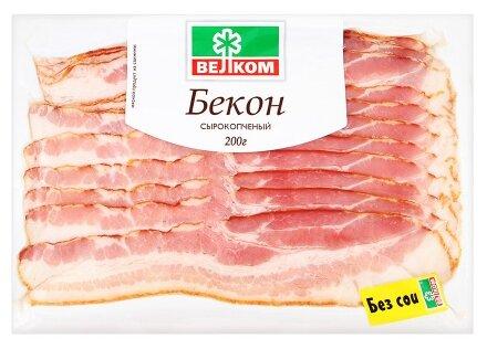 Велком Бекон свинина сырокопченый 200 г