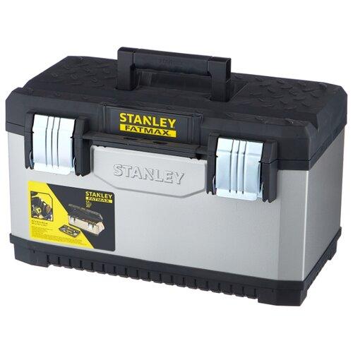 Ящик STANLEY FatMax 1-95-615 49.7x29.3x29.5 см серый/черный ящик тележка stanley 1 94 210 fatmax mobile work station cantilever 52x38x73 см черный