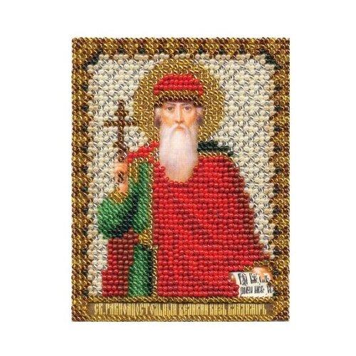 PANNA Набор для вышивания бисером и нитками Икона равноапостольного Великого князя Владимира 8.5 х 10.5 см (ЦМ-1211)