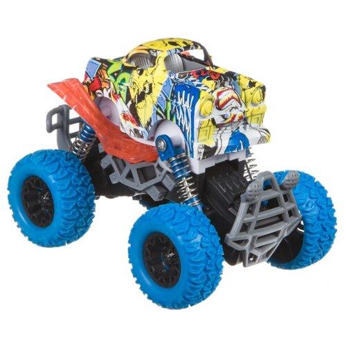 Купить Монстр-трак BONDIBON Парк техники (ВВ4569) желтый/синий, Машинки и техника