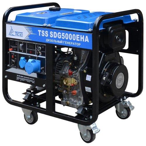 Фото - Дизельный генератор ТСС SDG 5000EHA (5000 Вт) бензиновый генератор тсс sgg 5000 eh 5000 вт