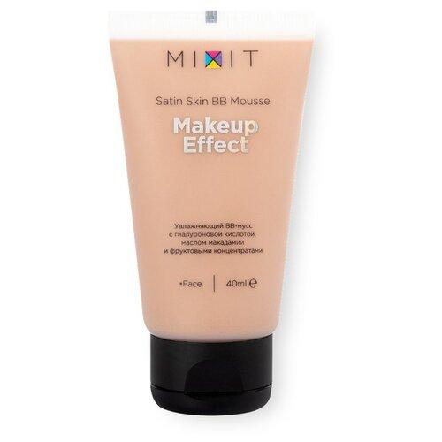MIXIT ВВ мусс с гиалуроновой кислотой Satinskin BB Mousse, 40 мл, оттенок: универсальный