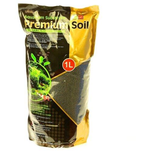 Грунт ISTA Aquarium Substrate Premium Soil 3.5+ мм 1 л черный