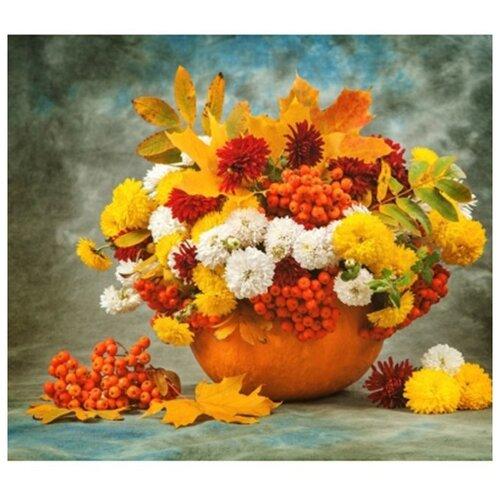 Купить Рыжий кот картина по номерам Осенний букет 40х50 см (Х-4738), Картины по номерам и контурам