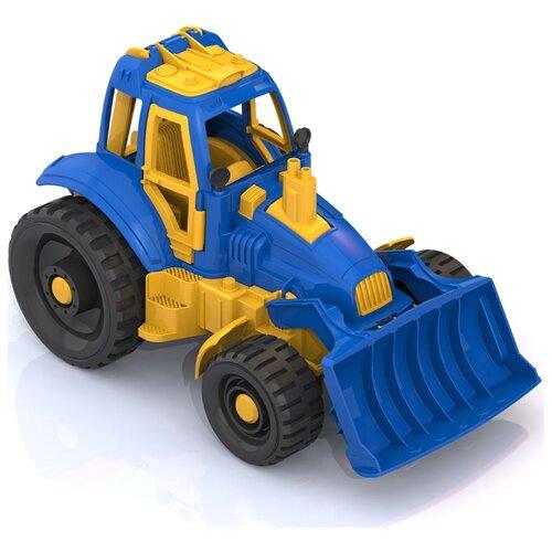 Трактор Нордпласт с грейдером (398) 30 см синий/желтый