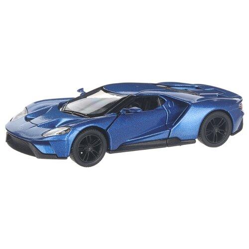 Купить Детская инерционная металлическая машинка с открывающимися дверями, модель 2017 Ford GT, синий, Serinity Toys, Машинки и техника