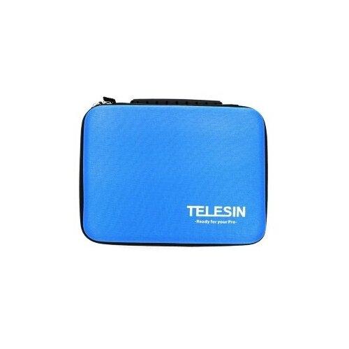 Фото - Telesin кейс для GoPro, Xiaomi, SJCAM, EKEN мини голубой крышка для объектива telesin для gopro hero8 черный