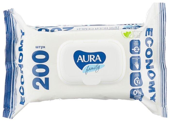 Влажные салфетки Aura Family 200 шт.