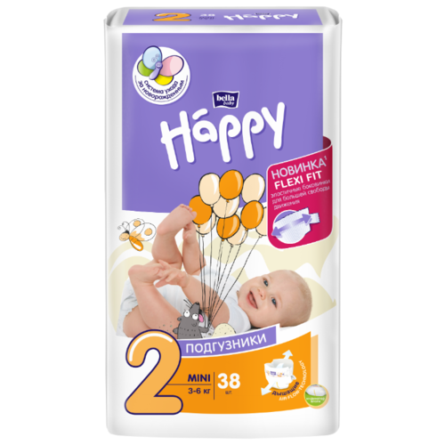 Bella Baby happy подгузники start 2 (3-6 кг) 38 шт.