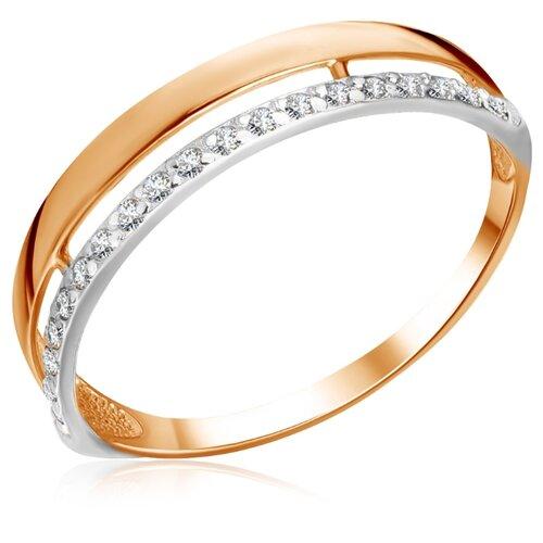 Бронницкий Ювелир Кольцо из красного золота Д0268-017185, размер 17 бронницкий ювелир кольцо из красного золота д0268 017060 размер 17