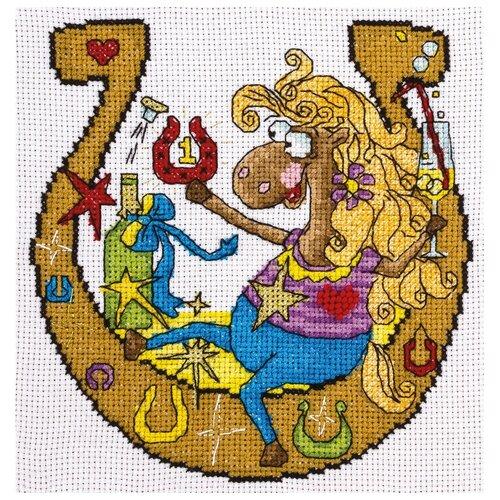 Купить PANNA Набор для вышивания крестиком И пусть сопутствует успех! 15 x 16 см (VK-1528), Наборы для вышивания