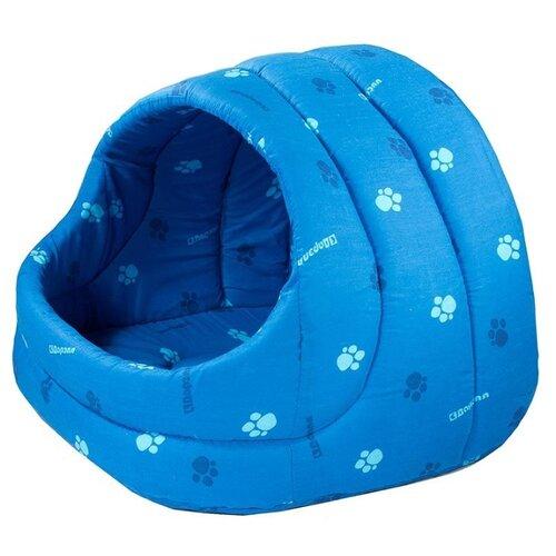 Домик для собак и кошек Дарэлл Лукошко 48х42х38 см синий