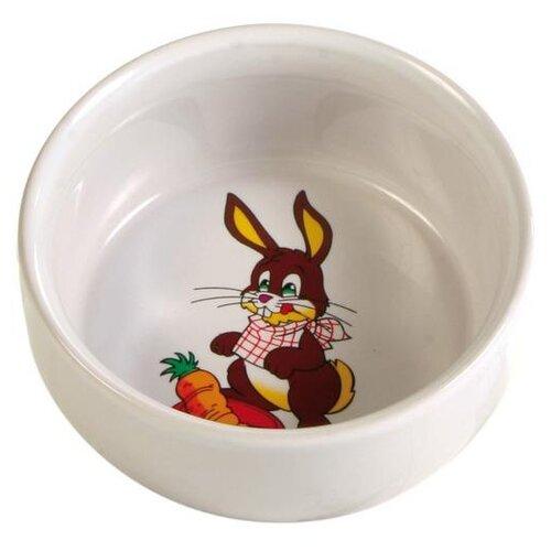 Миска TRIXIE 6063 для кроликов, 300 мл кремовый