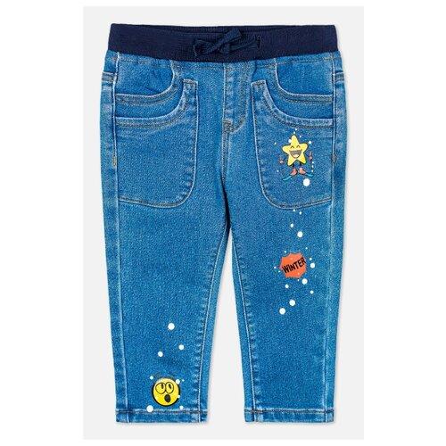 Купить Брюки playToday 397115 размер 92, синий, Брюки и шорты
