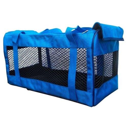 Сумка-переноска для собак Теремок СПС-1 46х23х24 см синий