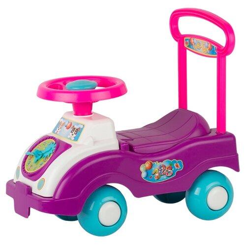 Купить Каталка-толокар СТРОМ Тик-Так (У897) фиолетовый, Каталки и качалки