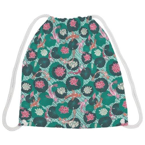 Купить JoyArty Рюкзак-мешок Жизнь под водой (bpa_99269V1) зеленый/розовый, Мешки для обуви и формы