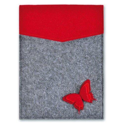 Купить Феникс+ Папка Бабочка на красном серый/красный, Файлы и папки